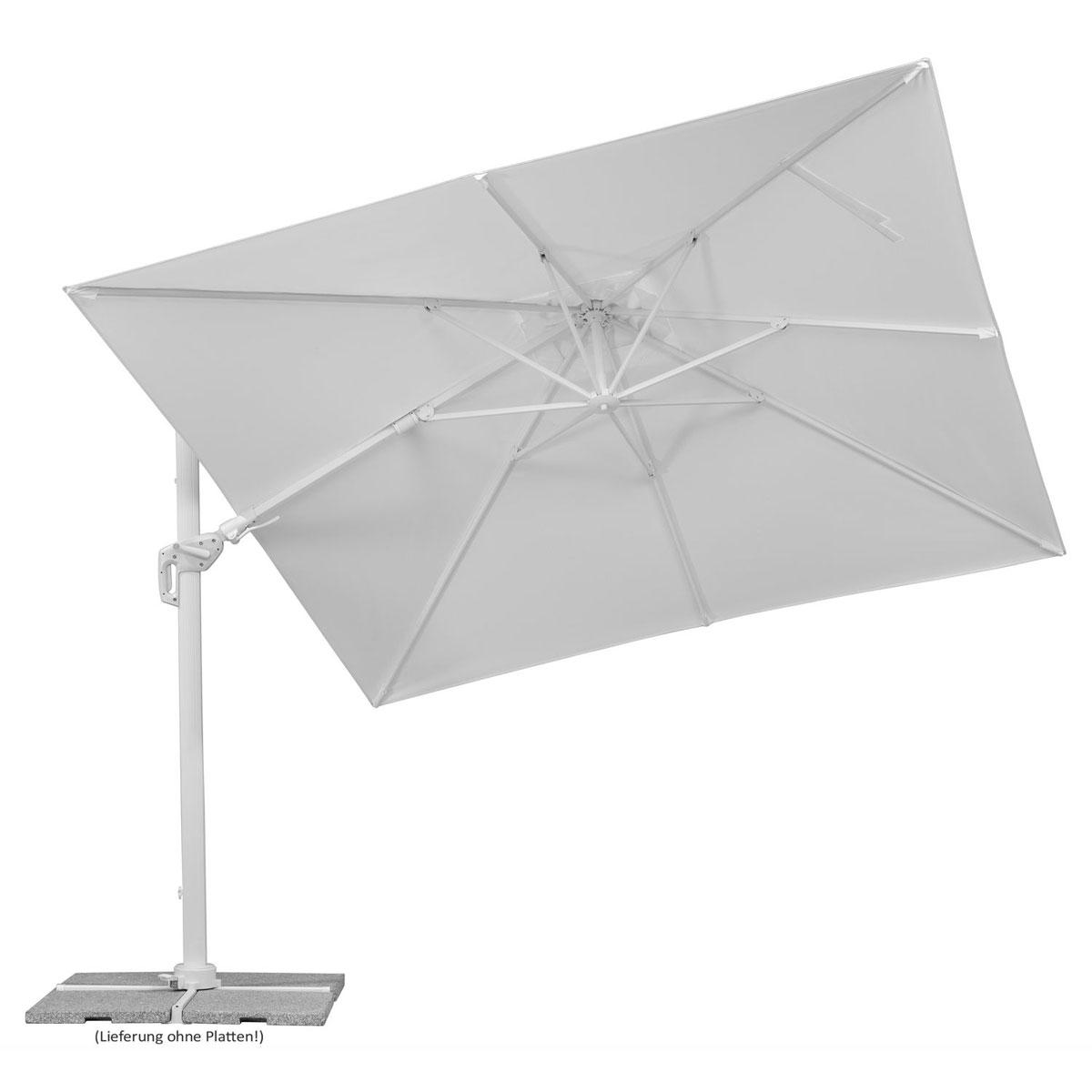 """Sonnenschirme und Sonnensegel - Sonnenschirm """"Rhodos Twist Bianco"""", 300x300 cm, weiß  - Onlineshop Hellweg"""