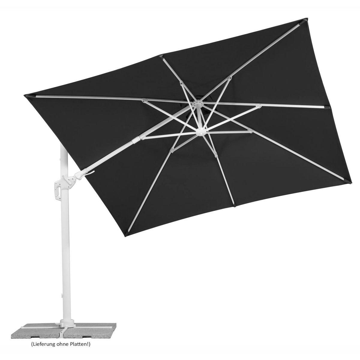 """Sonnenschirme und Sonnensegel - Sonnenschirm """"Rhodos Twist Bianco"""", 300x300 cm, anthrazit  - Onlineshop Hellweg"""