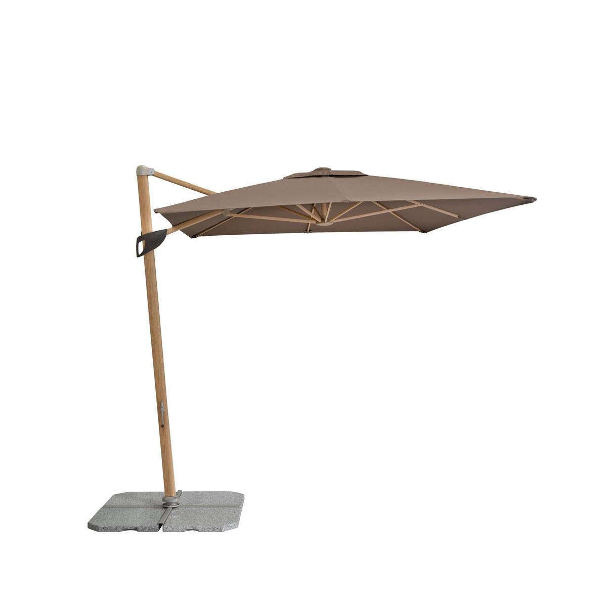"""Sonnenschirme und Sonnensegel - Pendelschirm """"Alu Wood"""" 300x220 cm, 8 teilig, greige  - Onlineshop Hellweg"""