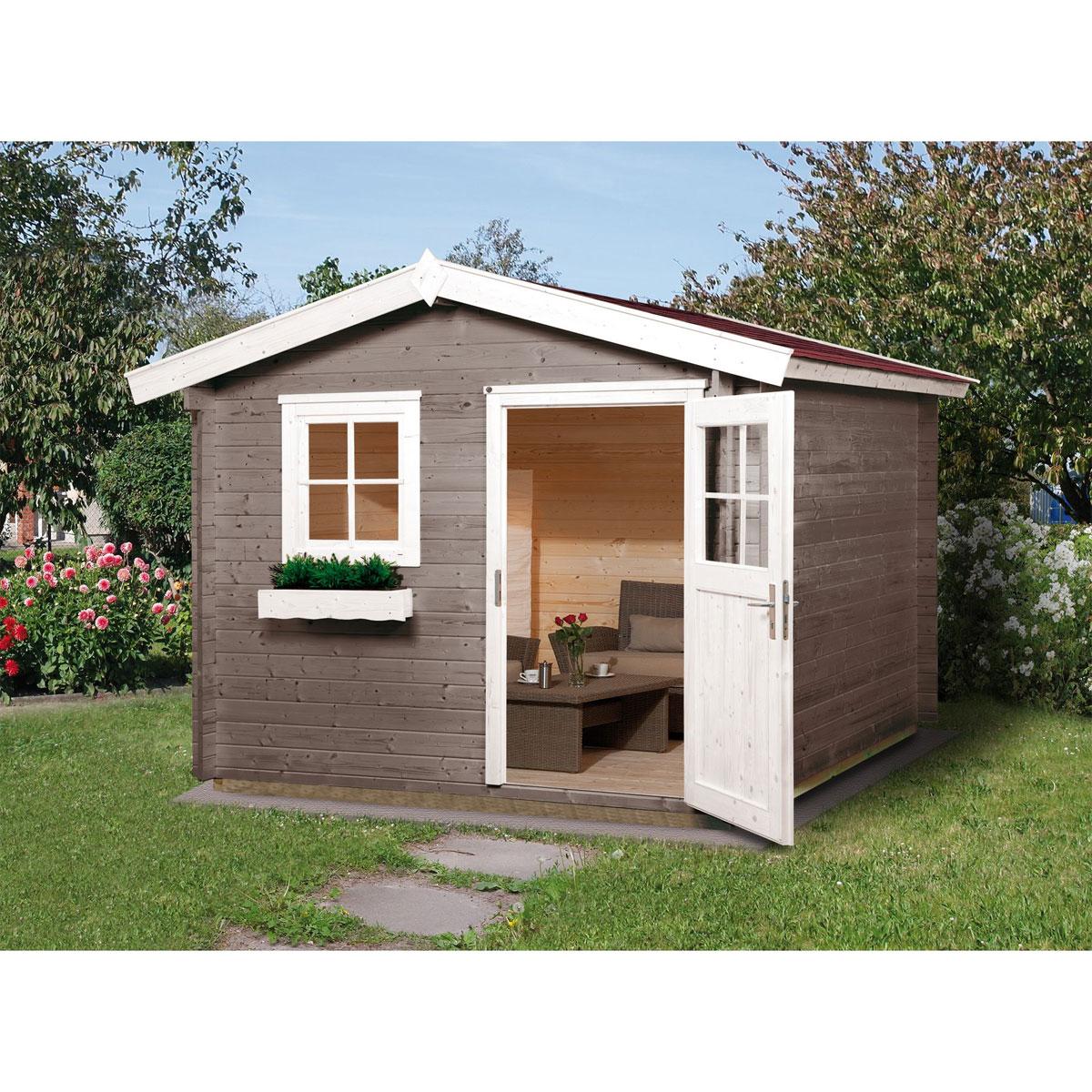 """Gartenhäuser - Gartenhaus """"Premium28"""", 250x300 cm, mit Einzeltür  - Onlineshop Hellweg"""