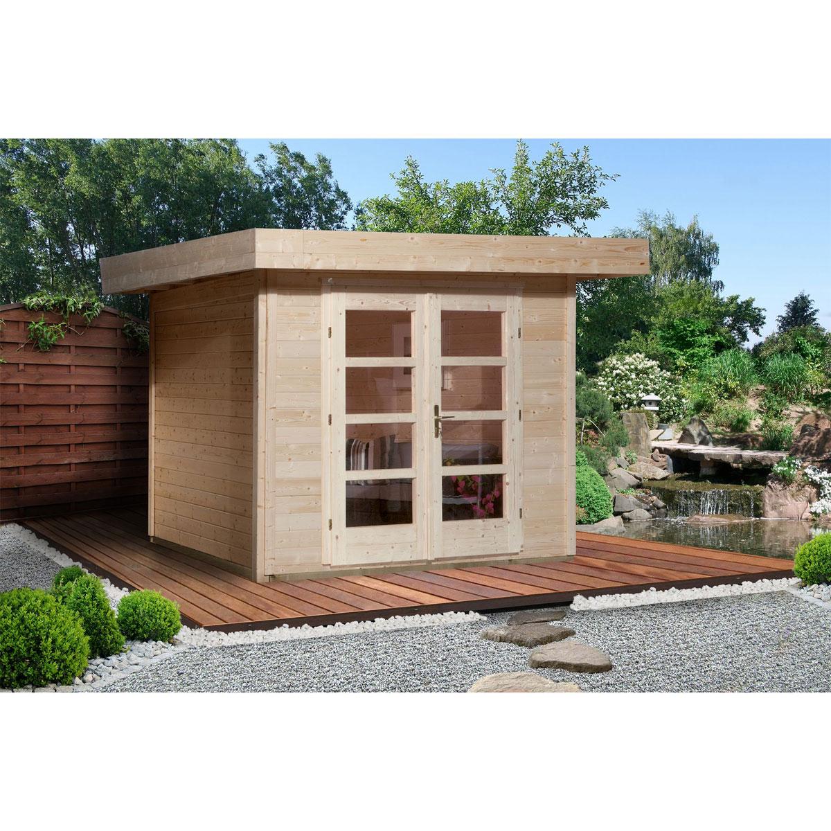 "Gartenhäuser - Designhaus ""126"" Gr.2, natur  - Onlineshop Hellweg"