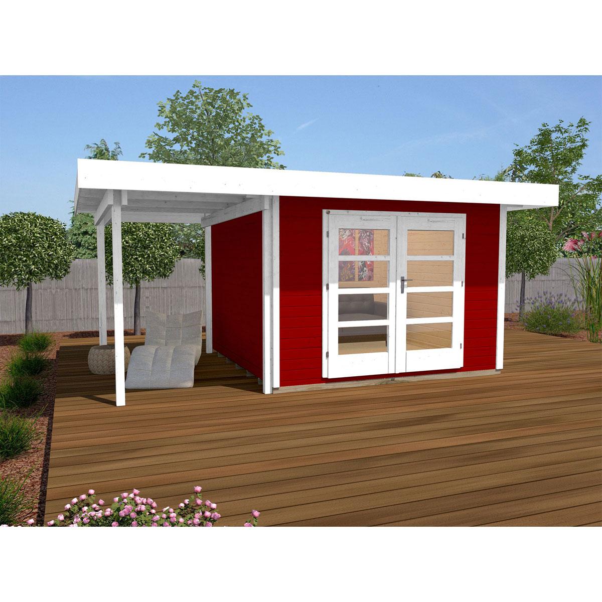 "Gartenhäuser - Designhaus ""126 Plus A"" Gr.1, schwedenrot  - Onlineshop Hellweg"