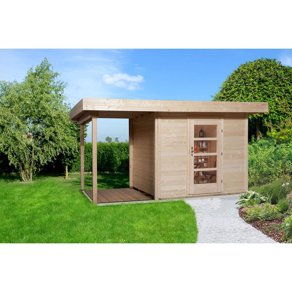 """Gartenhäuser - Designhaus """"172 A"""" Gr.2, natur  - Onlineshop Hellweg"""