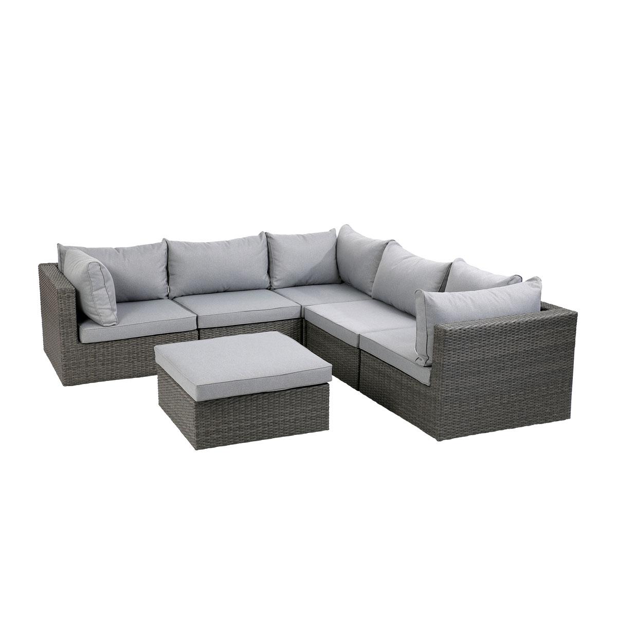 Loungemöbel - Lounge Set Kalifornien, grau, inkl. Kissen  - Onlineshop Hellweg