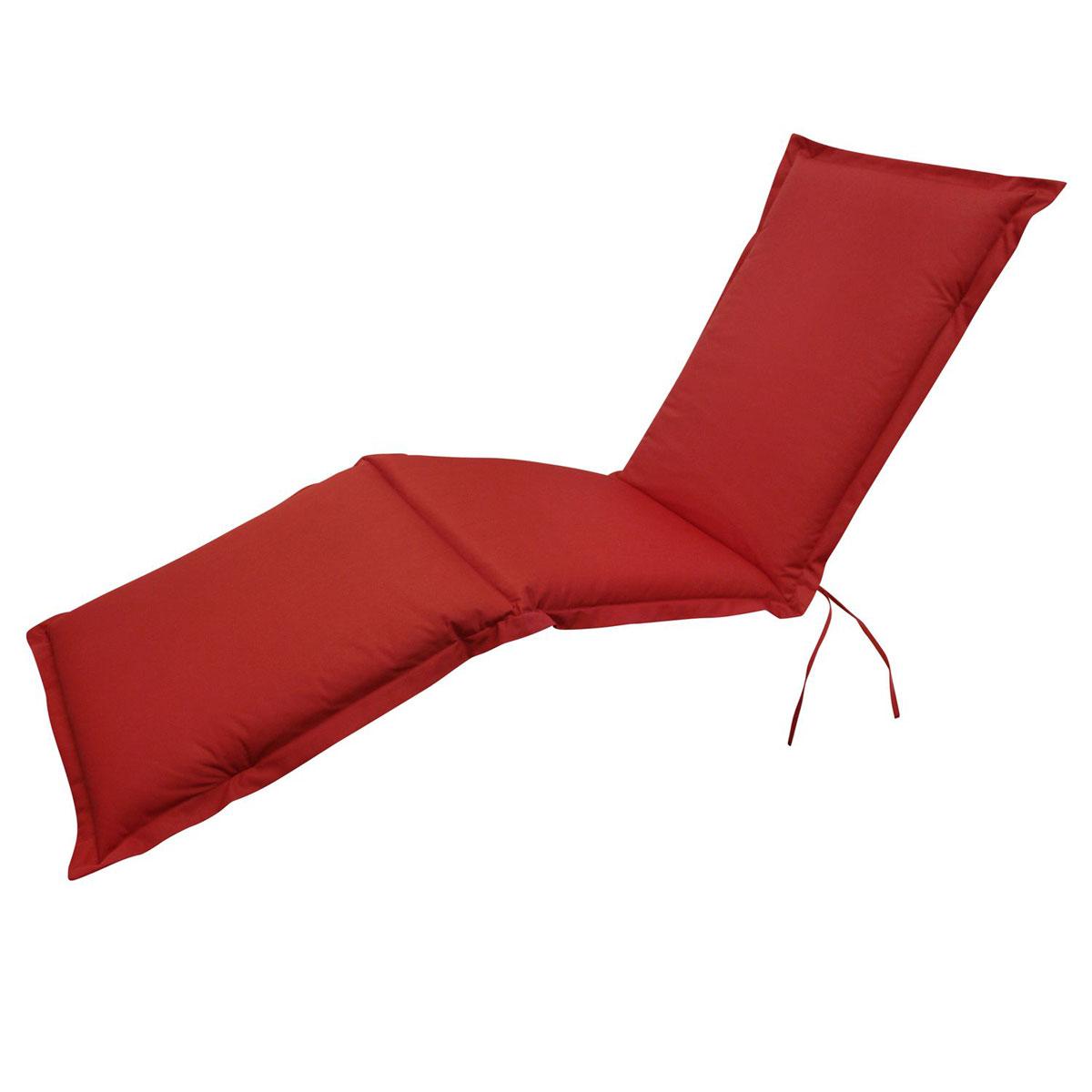 """Truhen und Auflagen - Polsterauflage Deck Chair """"Premium"""", extra dick, Rot  - Onlineshop Hellweg"""