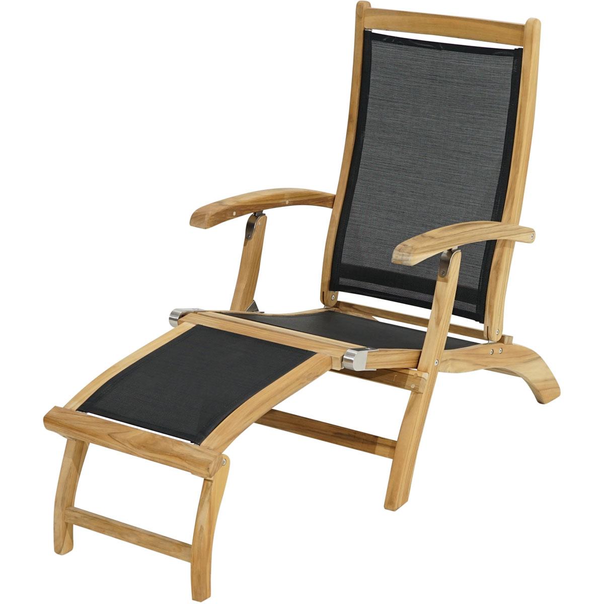 "Gartenstühle - Deckchair ""Fairchild"", 137 160x59x92 cm  - Onlineshop Hellweg"