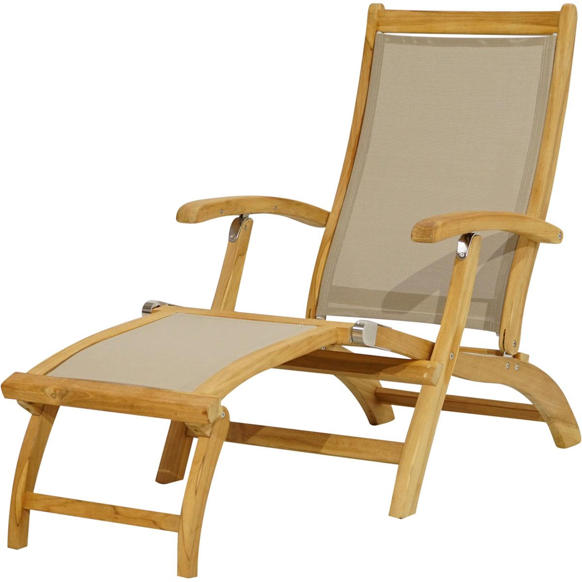 """Gartenstühle - Deckchair """"Richmond"""", 137 160x59x92 cm  - Onlineshop Hellweg"""