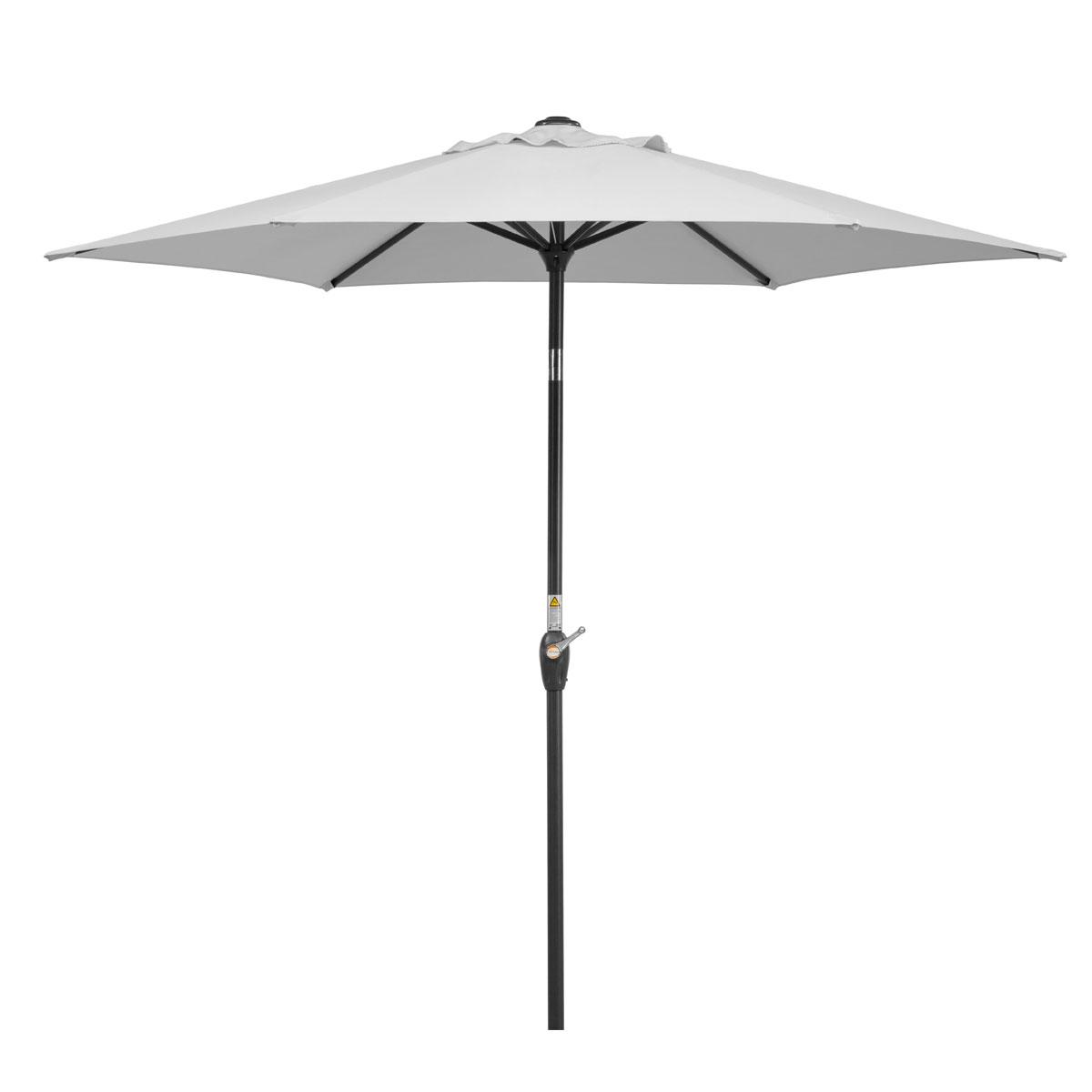 """Sonnenschirme und Sonnensegel - Schirm """"Bilbao 220 6"""", silbergrau  - Onlineshop Hellweg"""