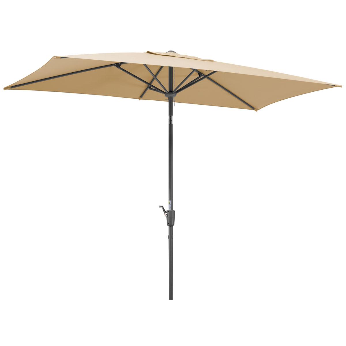 """Sonnenschirme und Sonnensegel - Schirm """"Tunis"""", 270x150 6, natur  - Onlineshop Hellweg"""
