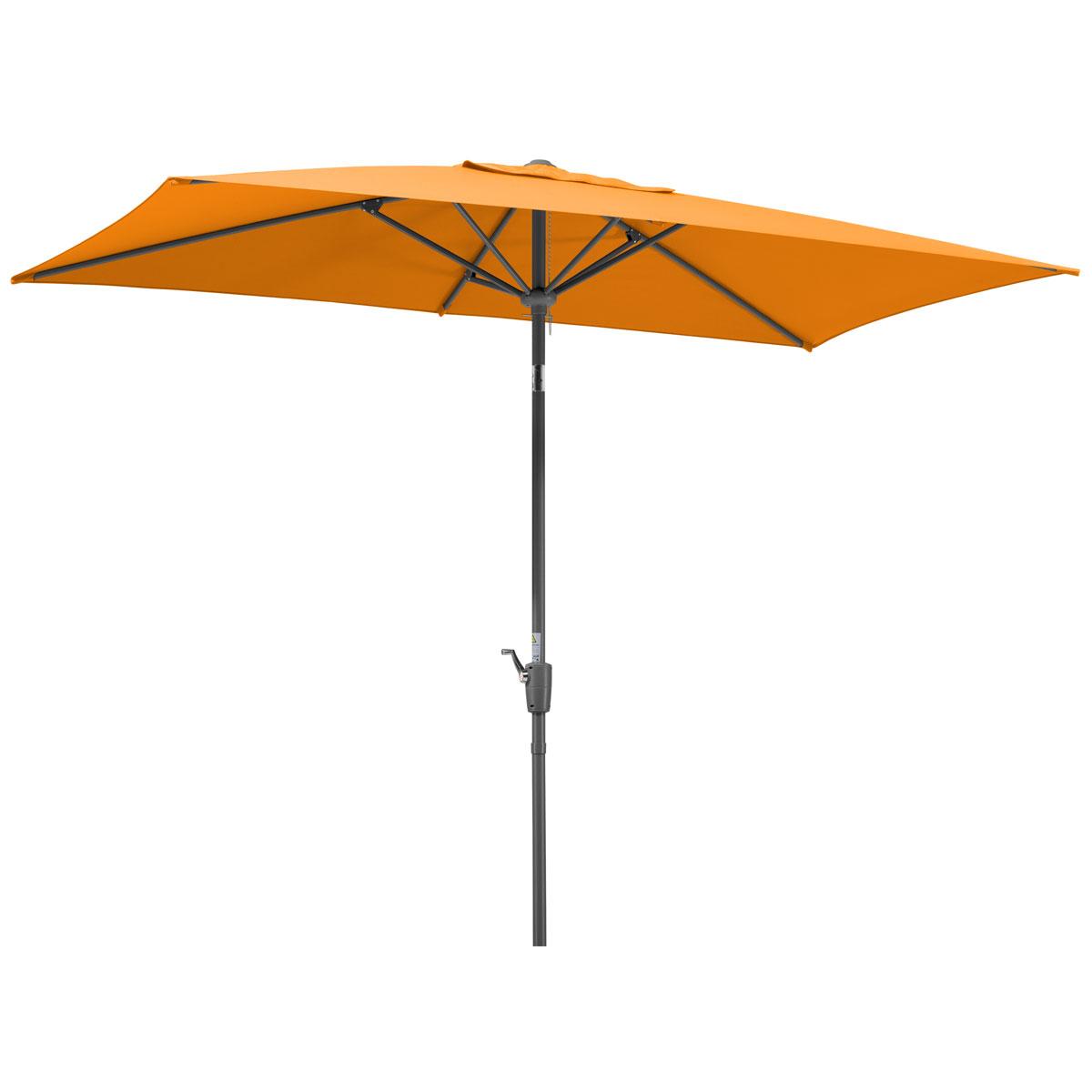 """Sonnenschirme und Sonnensegel - Schirm """"Tunis"""", 270x150 6, mandarine  - Onlineshop Hellweg"""