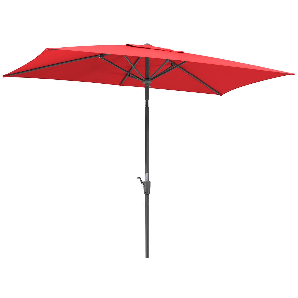 """Sonnenschirme und Sonnensegel - Schirm """"Tunis"""", 270x150 6, rot  - Onlineshop Hellweg"""