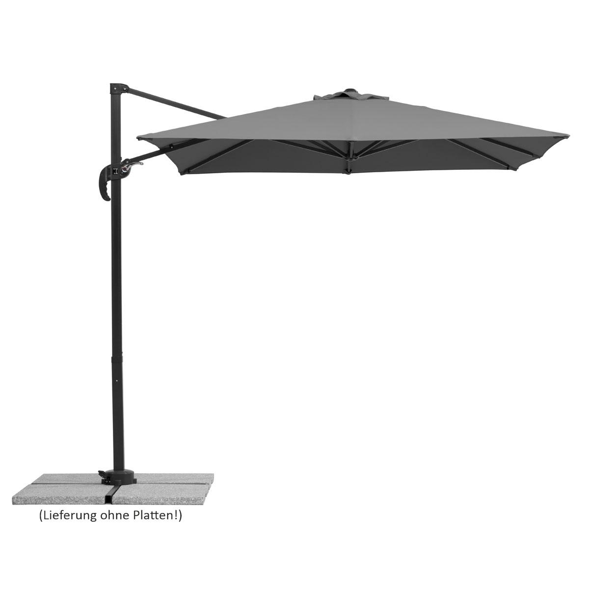"""Sonnenschirme und Sonnensegel - Schirm """"Rhodos Junior"""", 230x230 8, anthrazit  - Onlineshop Hellweg"""