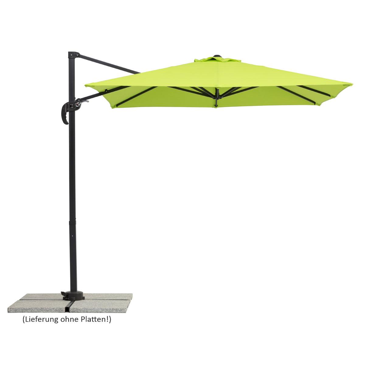 """Sonnenschirme und Sonnensegel - Schirm """"Rhodos Junior"""", 230x230 8, apfelgrün  - Onlineshop Hellweg"""