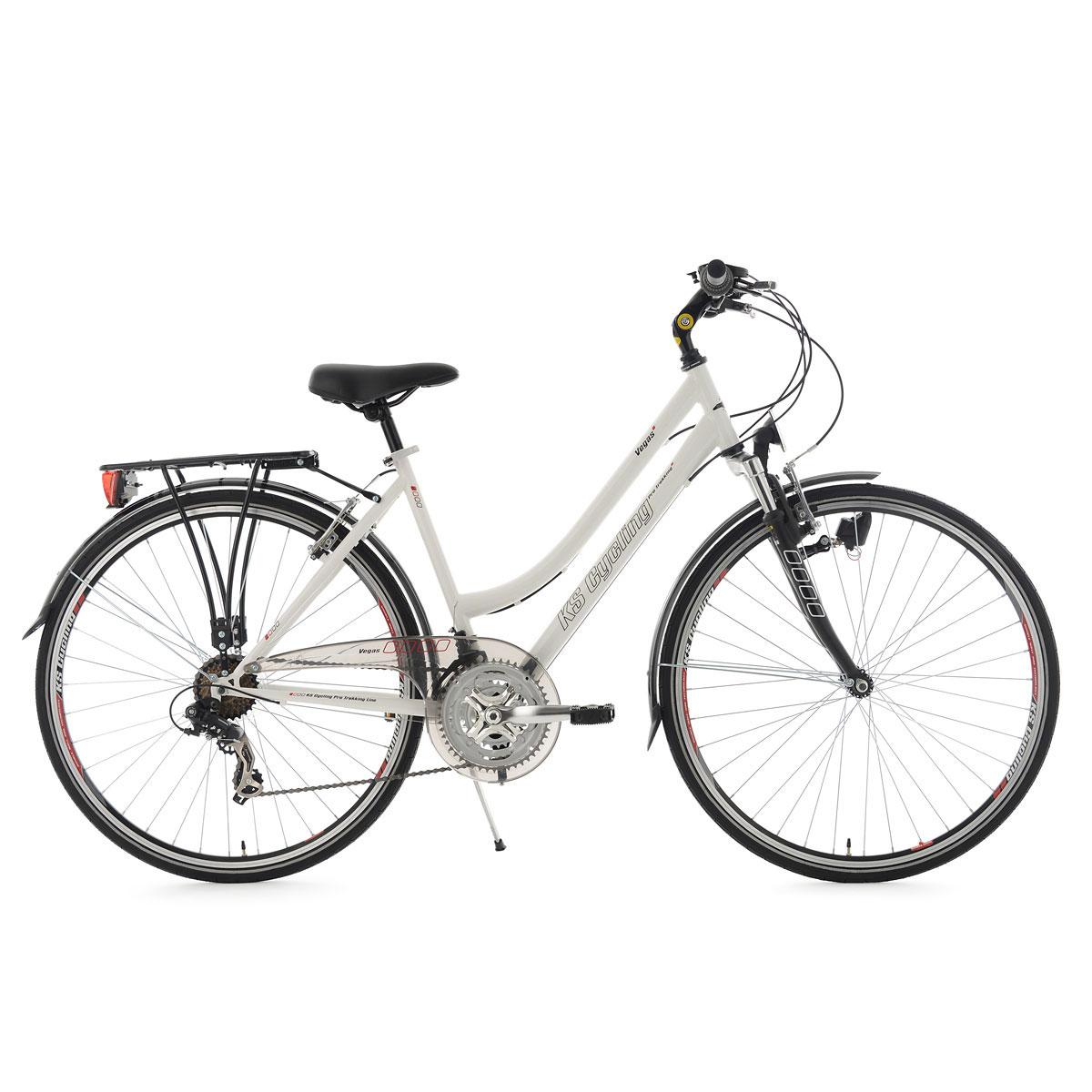 "Trekkingrad ""Vegas"", Damen, Flachlenker, 48cm, weiß Flachlenker | Damen | weiß | 48 cm"
