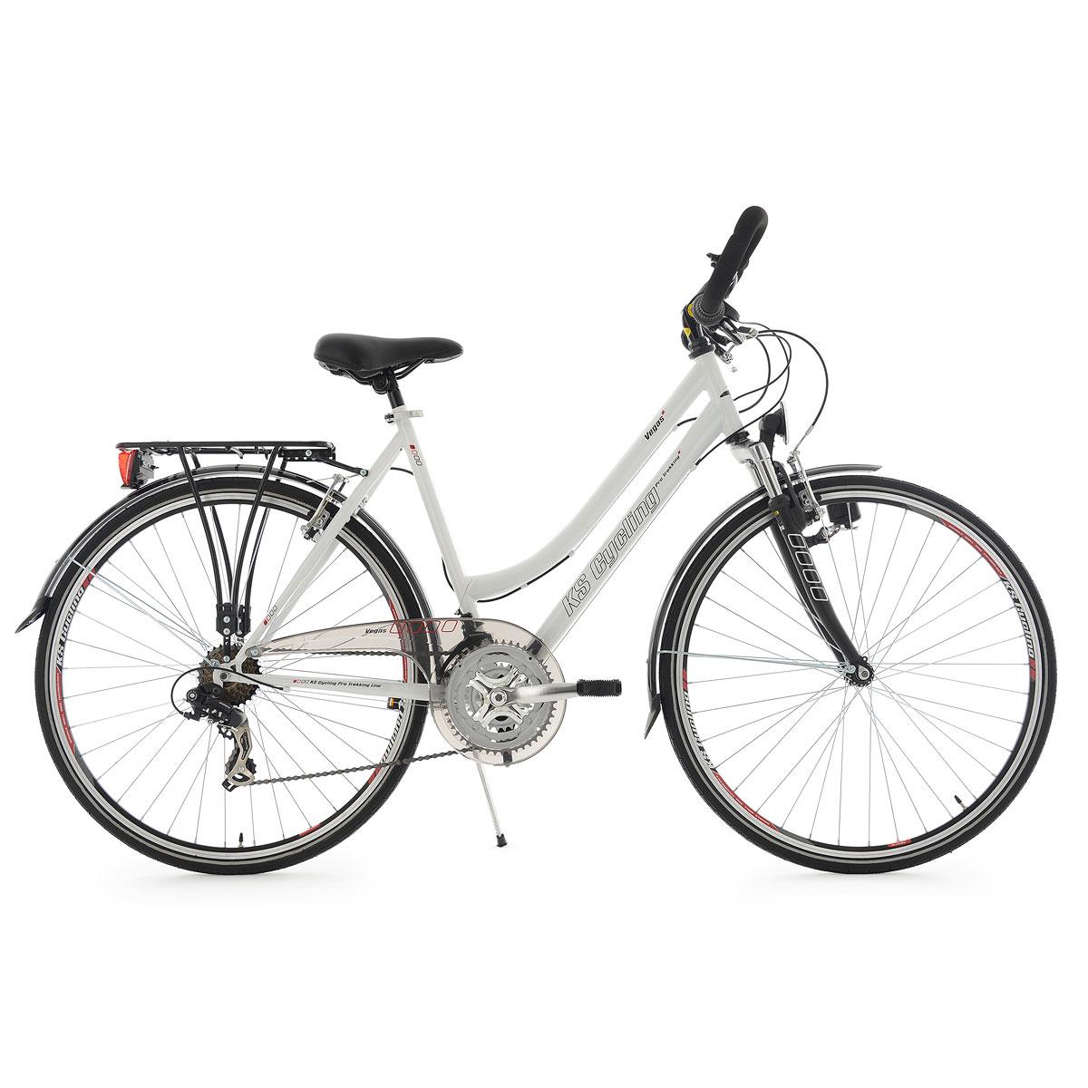 "Trekkingrad ""Vegas"", Damen, Multilenker, 54cm, weiß Multipositionslenker | Damen | weiß | 53 cm"