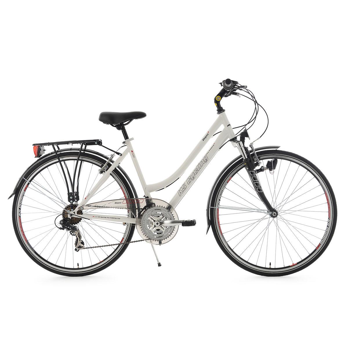 "Trekkingrad ""Vegas"", Damen, Flachlenker, 53cm, weiß Flachlenker | Damen | weiß | 53 cm"