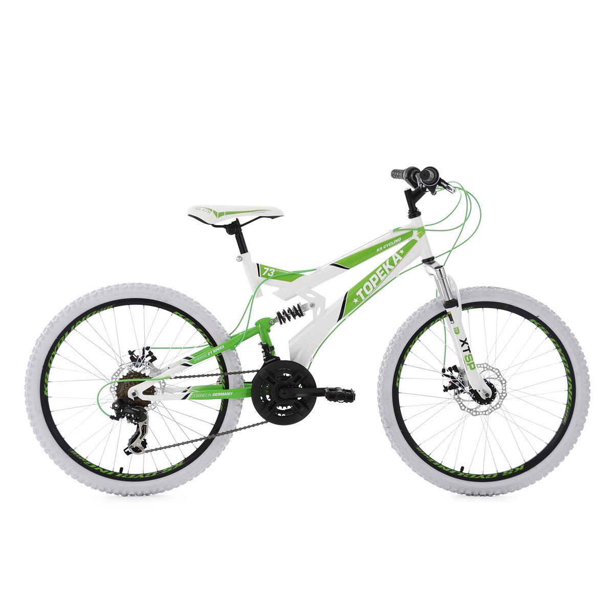 "Mountainbike ""Topeka"", Fully weiß-grün"