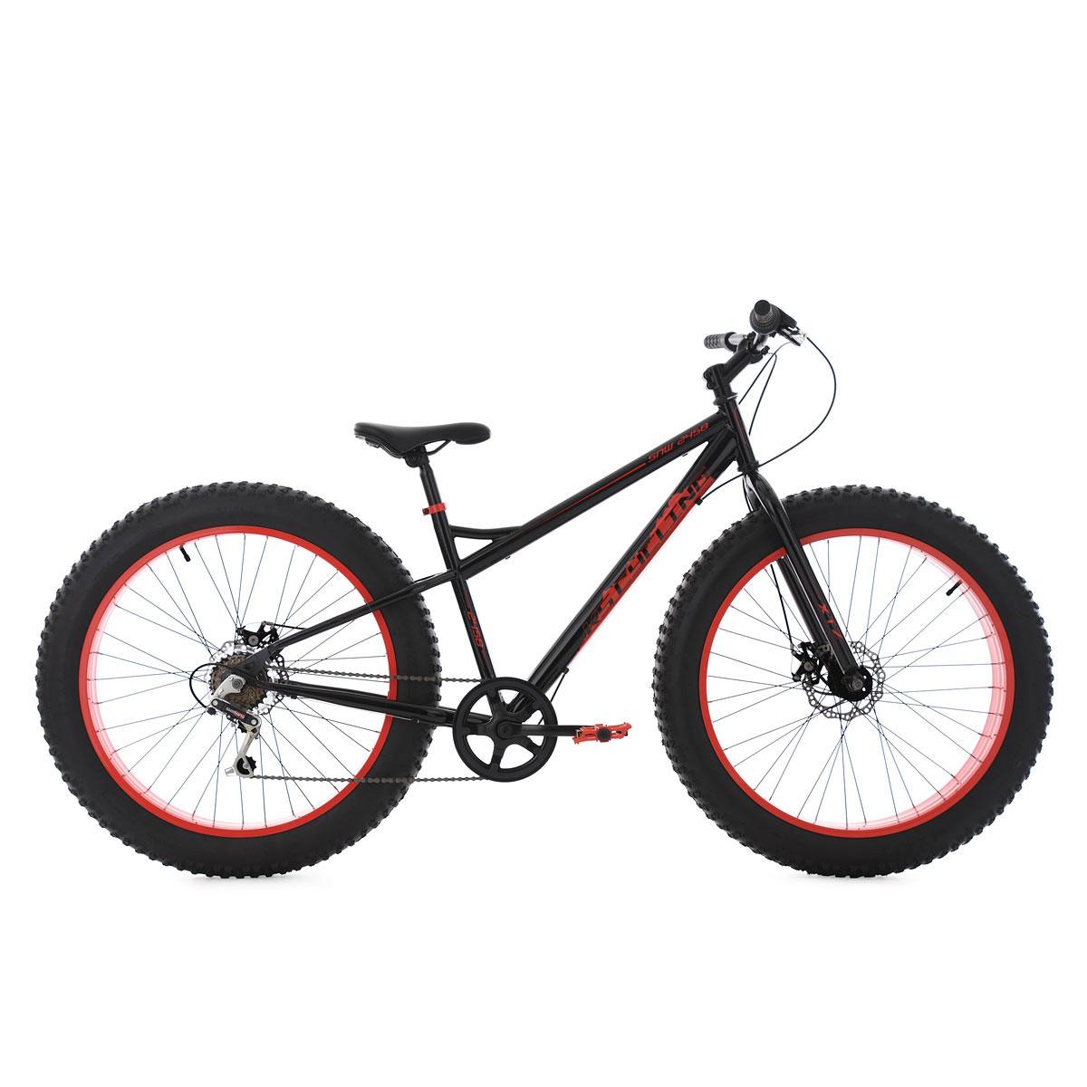 Fatbike, 43cm, schwarz-rot