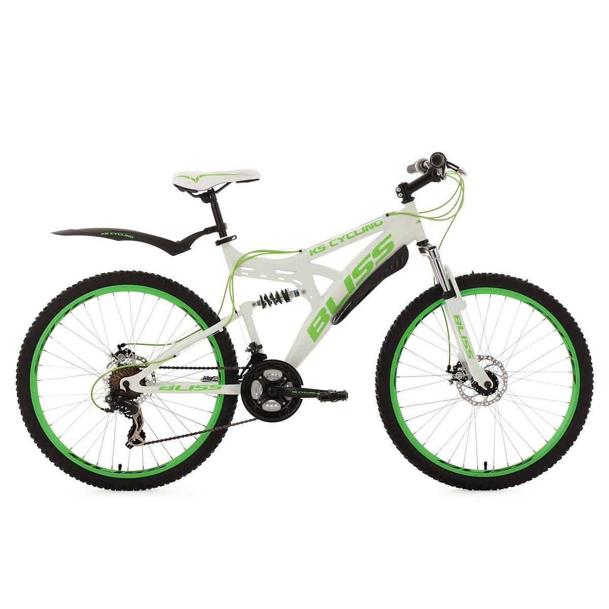 "Mountainbike ""Bliss"", Fully, weiß-grün"