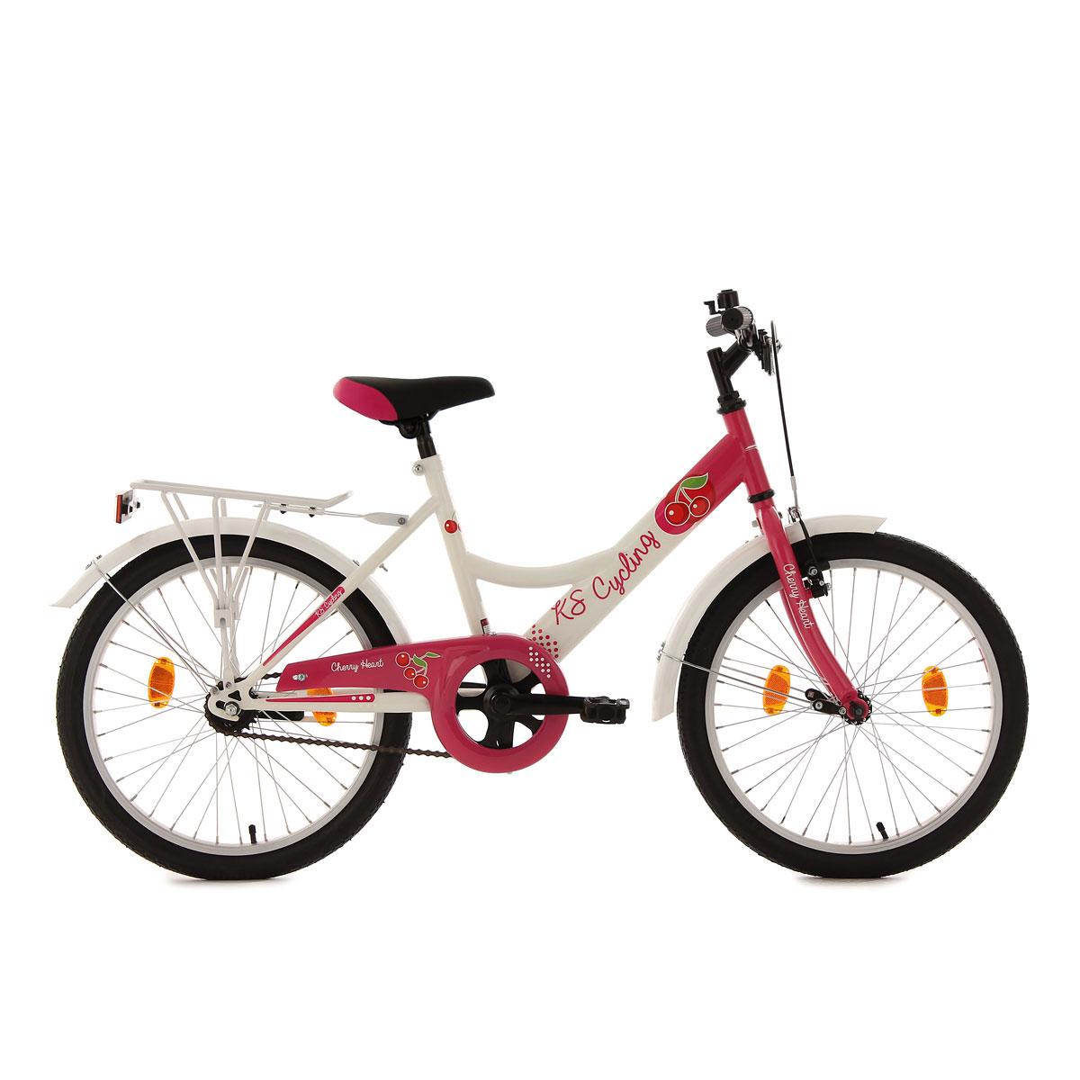 """KS Cycling Kinderfahrrad """"Cherry Heart"""", weiß-pink"""