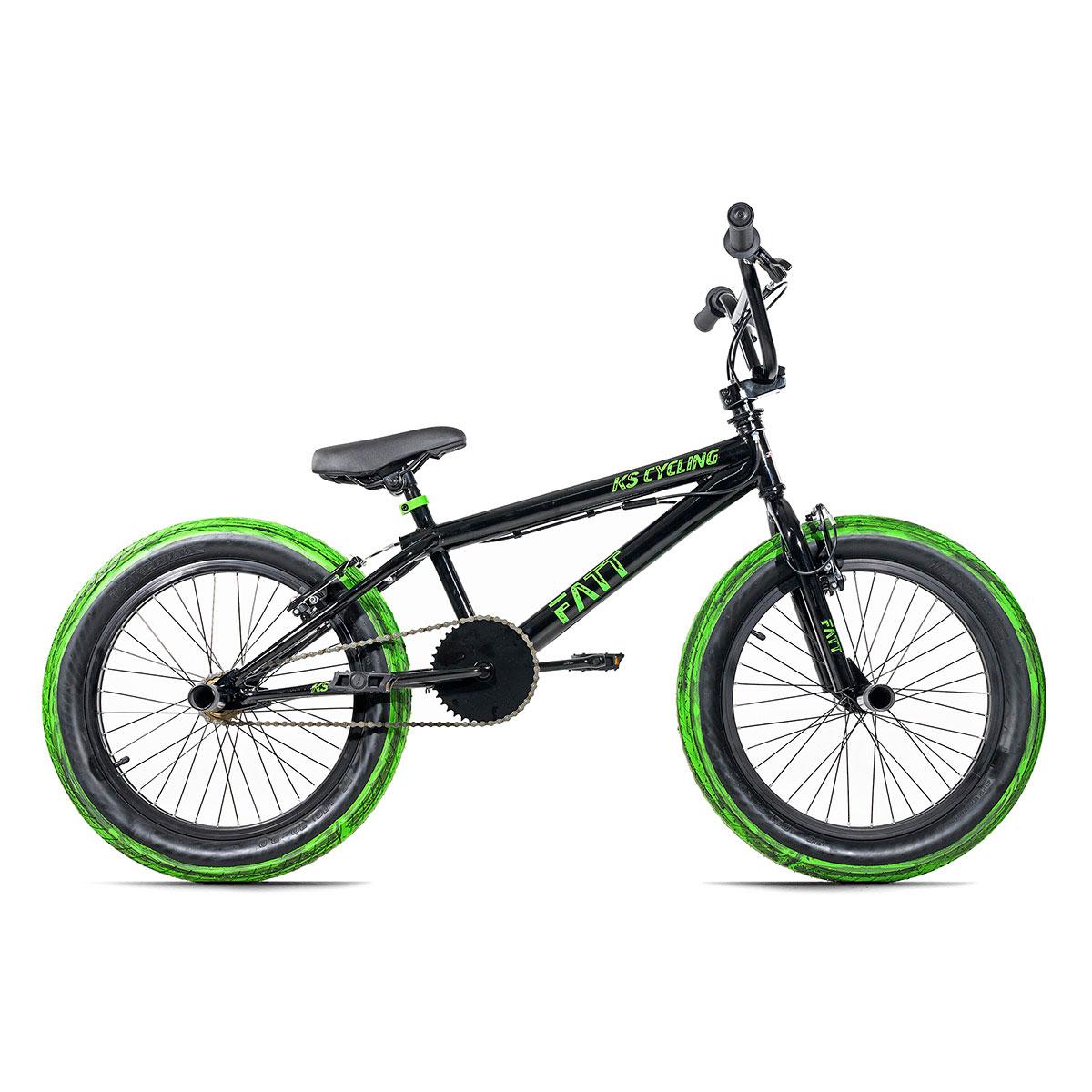 "KS Cycling BMX-Rad ""Fatt"", schwarz-grün"