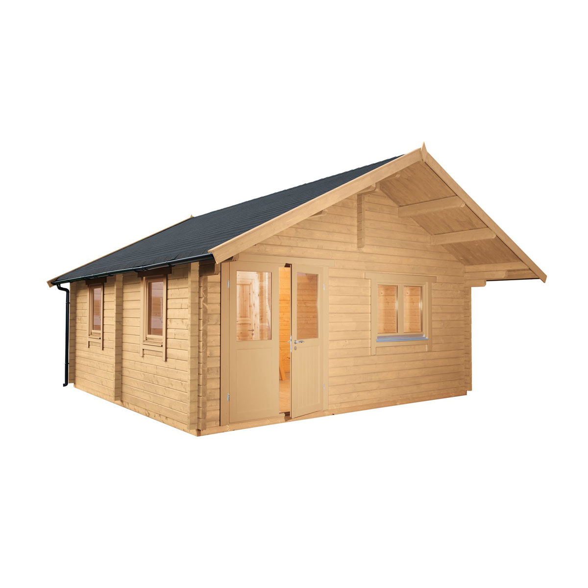 """Wolff Finnhaus Gartenhaus """"Lappland 70-C XL"""", mit Schlafboden"""
