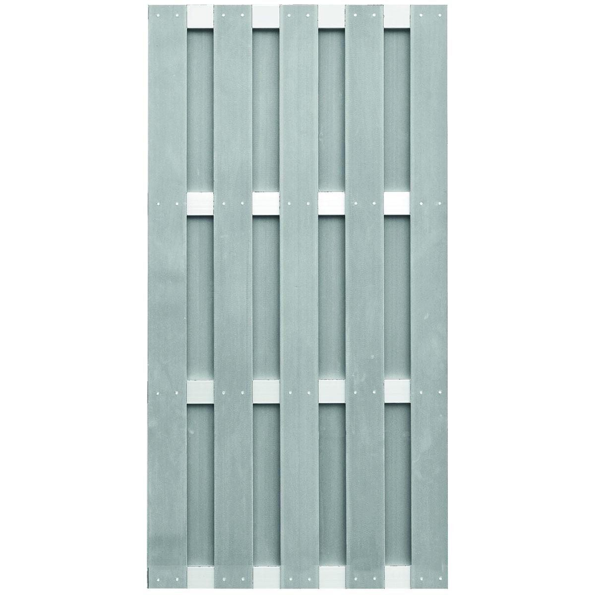 """Ideenwelt T&J Zaunserie """"JINAN"""", grau, 90 x 180 cm, WPC"""