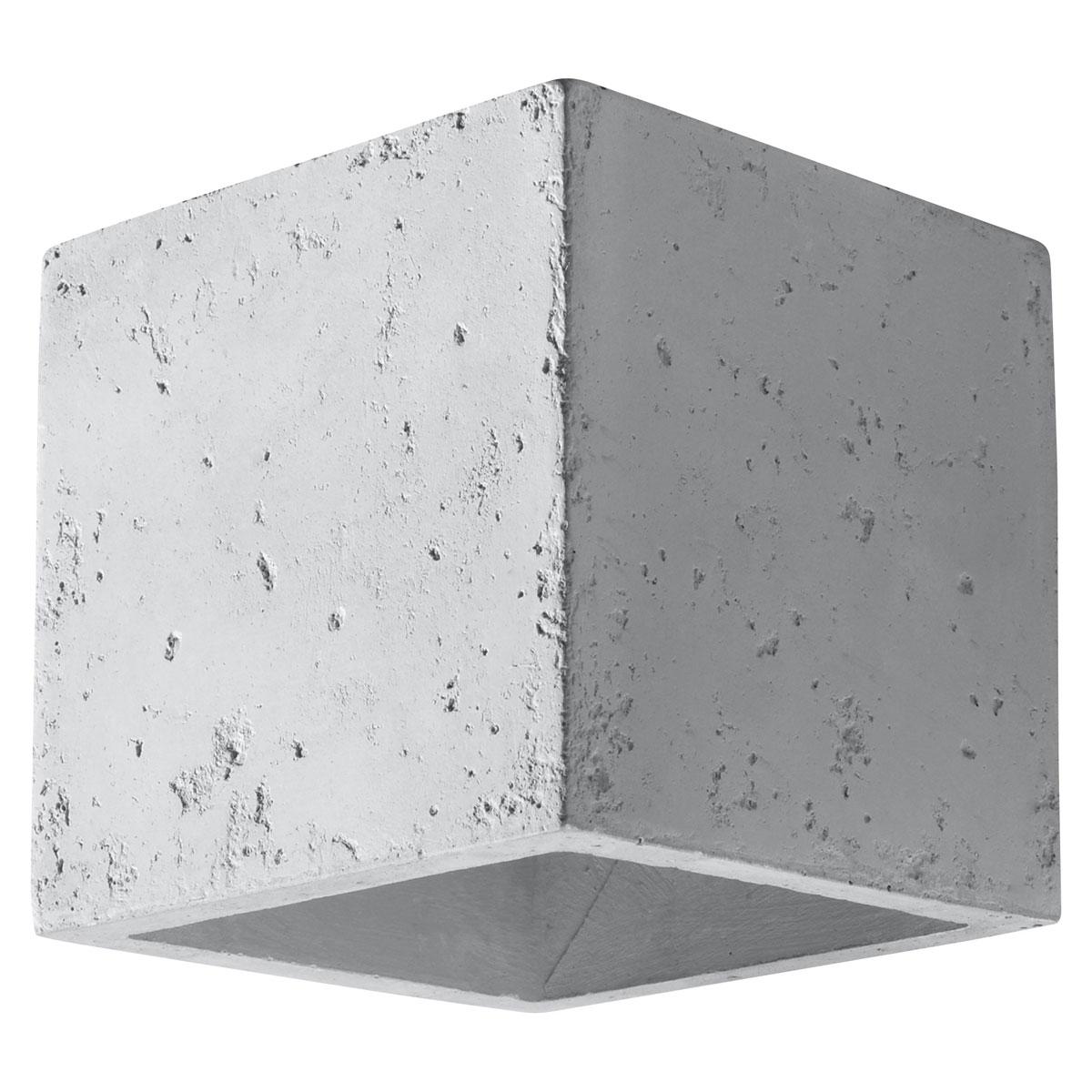 """Wandleuchten - Wandleuchte """"Quad"""", Beton, grau grau  - Onlineshop Hellweg"""