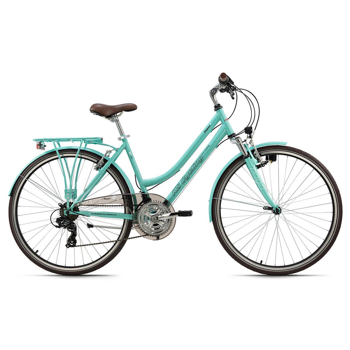 "Trekkingrad ""Vegas"", Damen, Flachlenker, 48cm, grün Flachlenker | Damen | gruen | 48 cm"