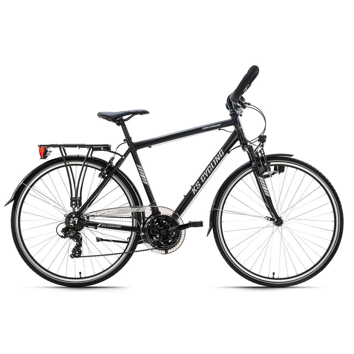 "KS Cycling Trekkingrad ""Canterbury"", Herren, Multilenker, 53 cm, schwarz matt"