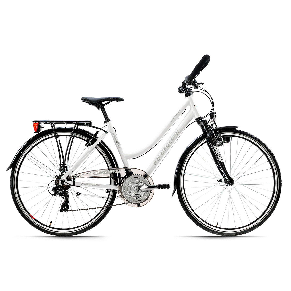 "KS Cycling Trekkingrad ""Canterbury"", Damen, Multilenker, 48 cm, weiß matt"