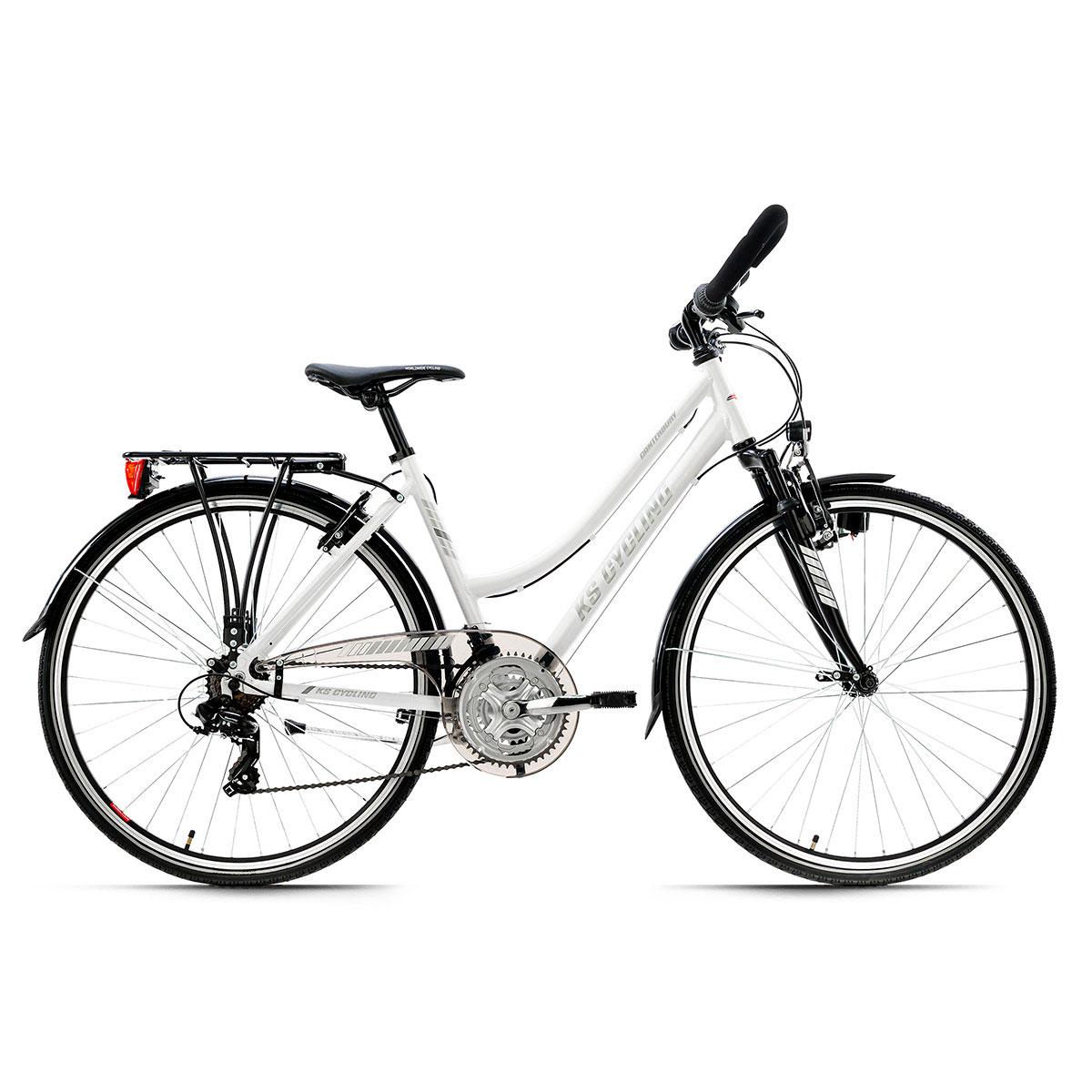 "Trekkingrad ""Canterbury"", Damen, Multilenker, 48cm, weiß matt Multipositionslenker | weiß matt | Damen | 48 cm"