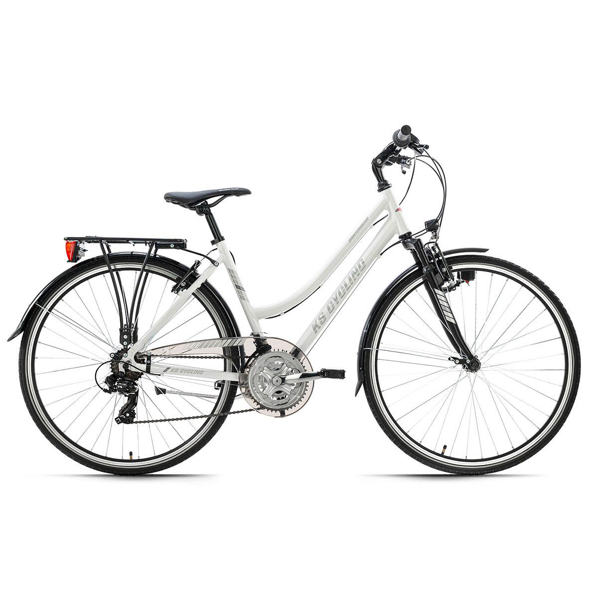 "KS Cycling Trekkingrad ""Canterbury"", Damen, Tourenlenker, 48 cm, weiß"