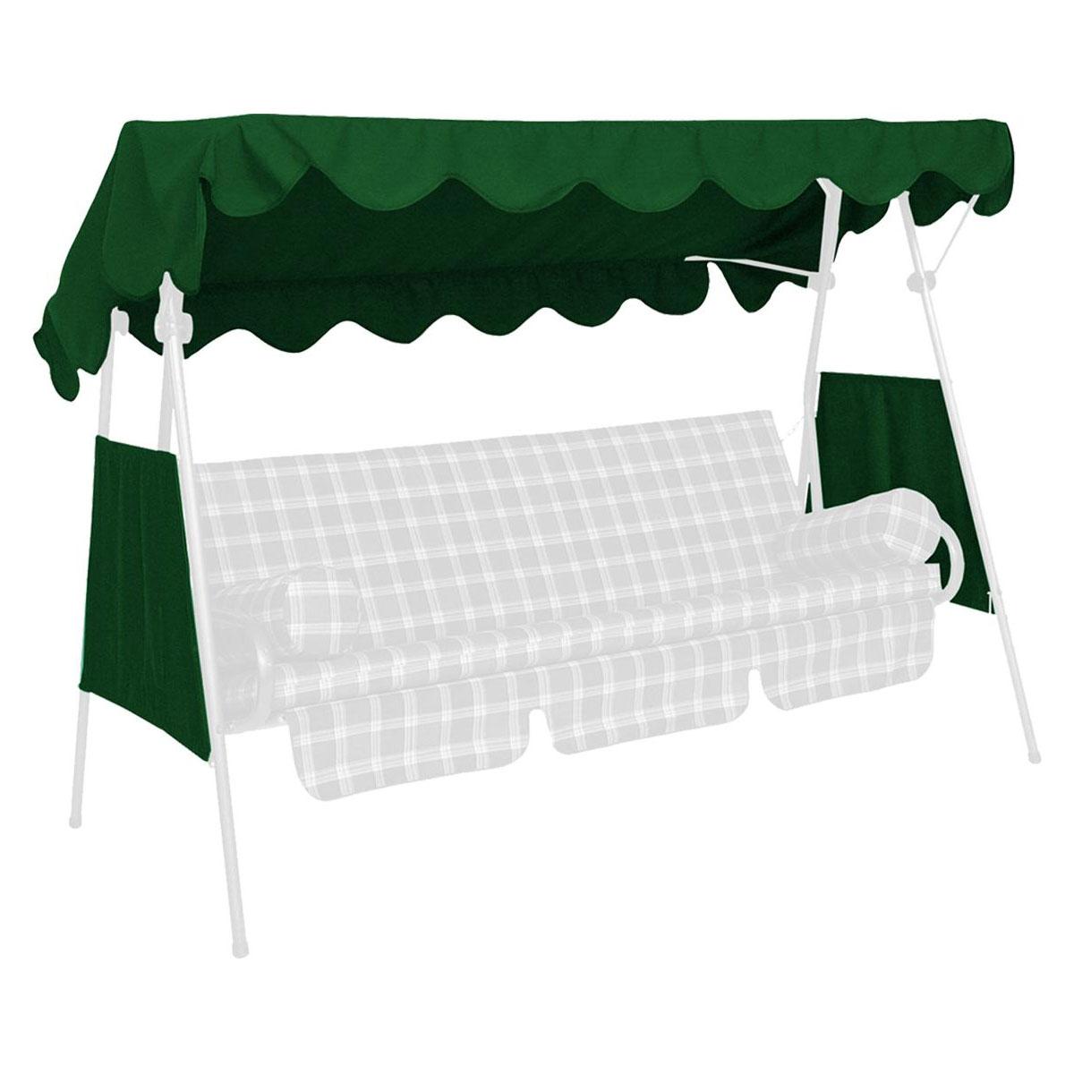 Hollywoodschaukeln - Sonnendach, 200x120 cm, Swingtex, tannengrün Tannengrün  - Onlineshop Hellweg