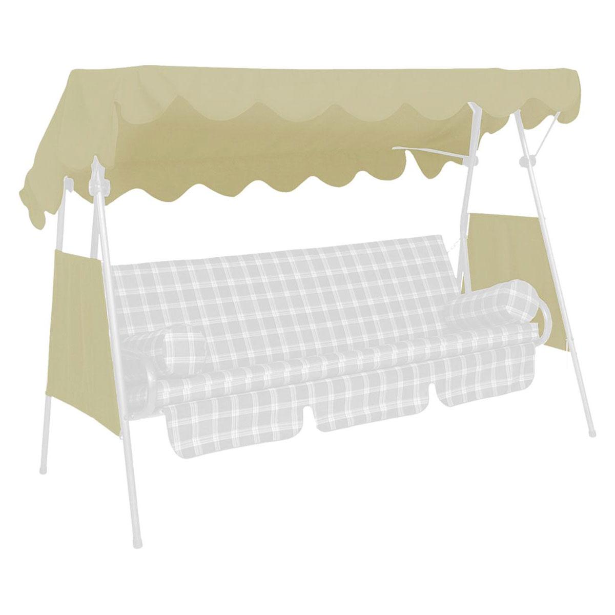 Hollywoodschaukeln - Sonnendach, 200x120 cm, PE beige Beige  - Onlineshop Hellweg