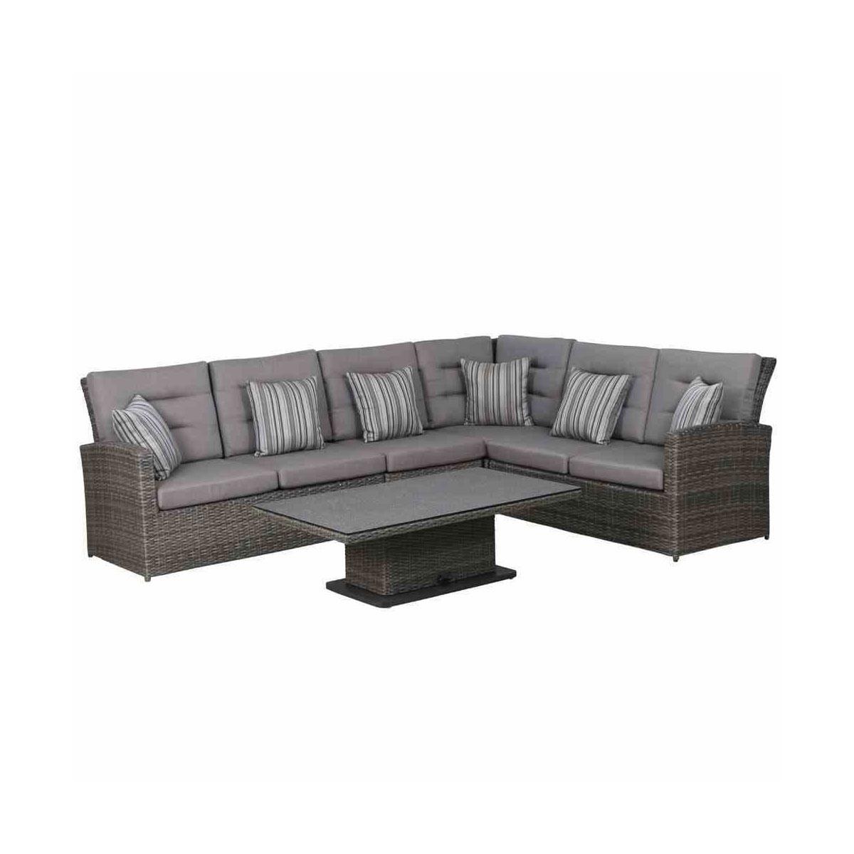 """Siena Garden Loungeset """"Porto"""", 5-teilig inkl. Sitz- und Rückenkissen, grau/anthrazit"""