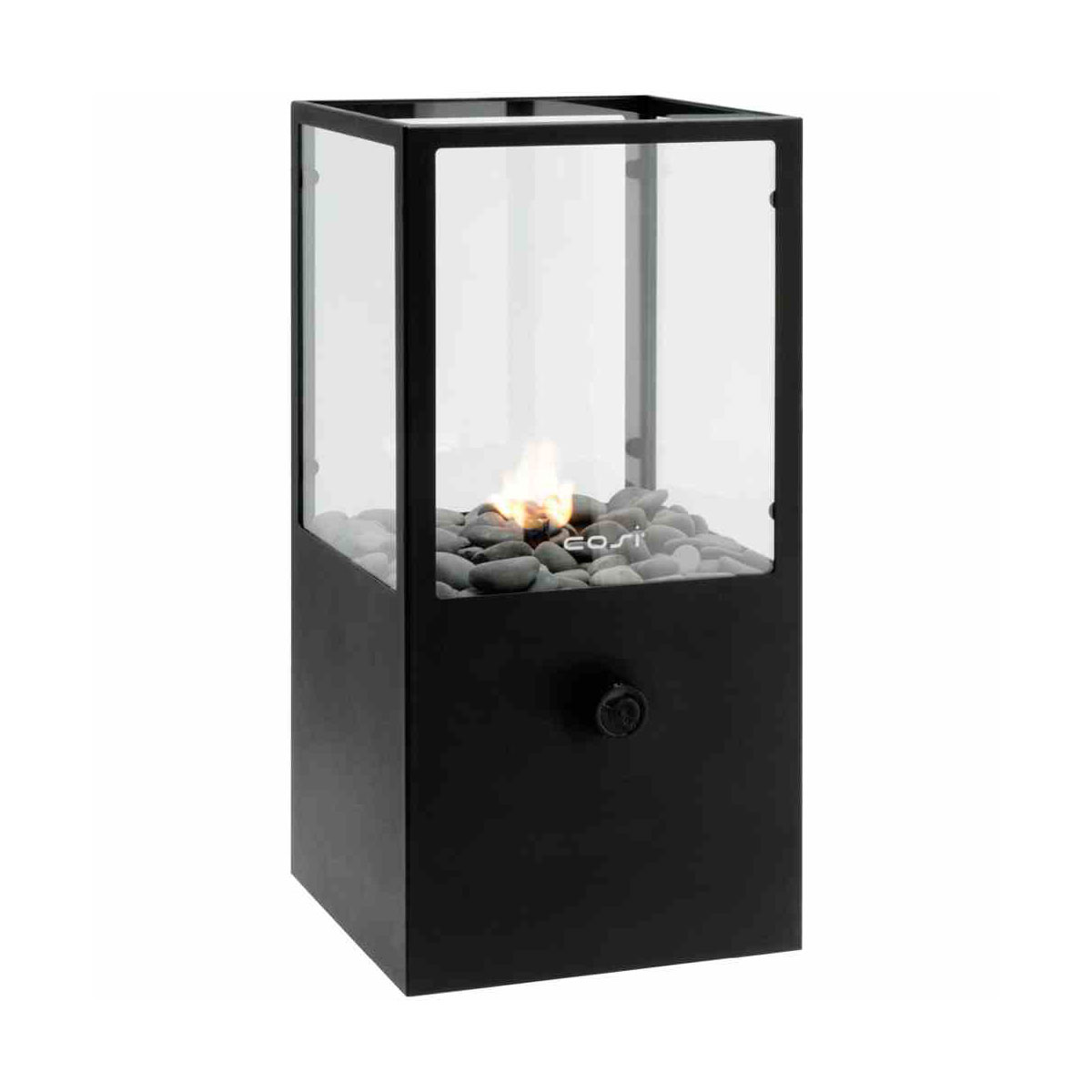 """COSI Feuerstelle """"Cosidome H"""" 18x18x45 cm, Gaswindlicht mit Glas"""